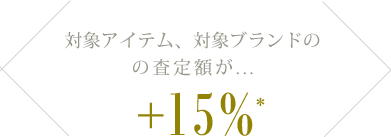 最大15%UPキャンペーン